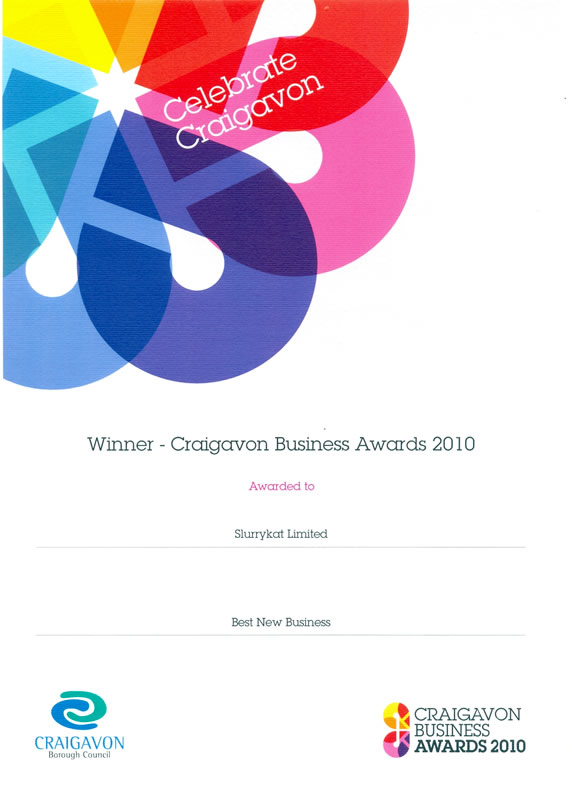 Craigavon Business Awards 2010 - SlurryKat Enginnering Ltd - Best New Business