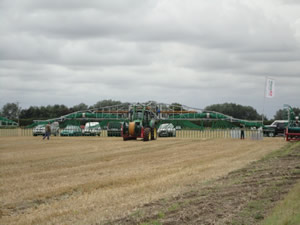 SlurryKats Dribble bar in action at the Field Demonstration, Driffield North Yorkshire