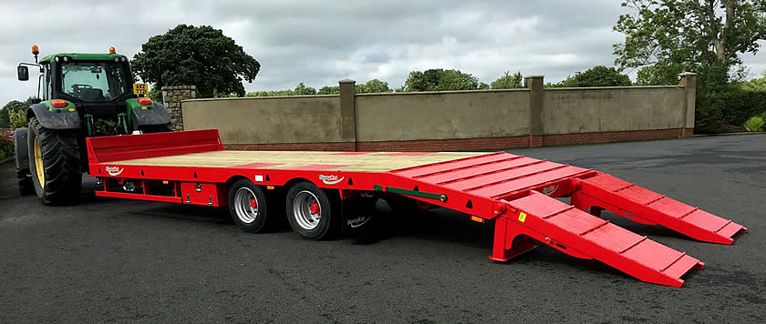Low Loader Trailer for Farm Use