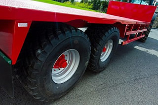 High tensile steel chassis form the platform for all SK flatbed trailers