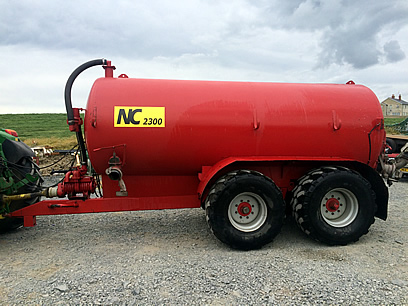 2300 gallon nc slurry tanker for sale