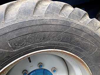 Kane Silage Trailer Wheel Size